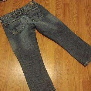 Guess Stretch Capri Jeans Sz 28